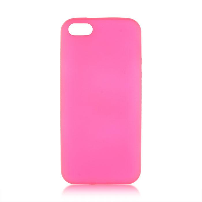 Чехол для iPhone 5\5S\SE Brosco Colourful, накладка, розовый чехол для iphone 5 iphone 5s iphone se brosco soft rubber накладка черный