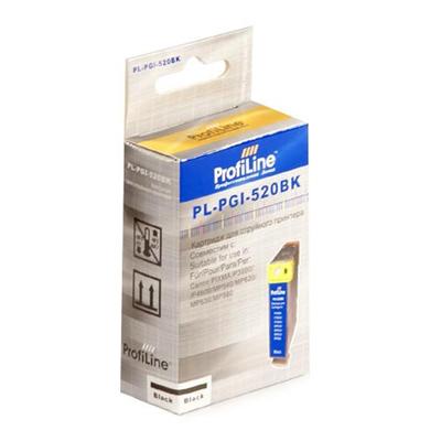 Фото - Картридж ProfiLine PL- PGI-520BK Black для Canon Pixma IP3600/IP4600/MP540/MP550/MP620/MP630/MP980 картридж canon pgi 520bk 2932b012 x2 для canon pixma ip3600 4600 mp540 620 черный
