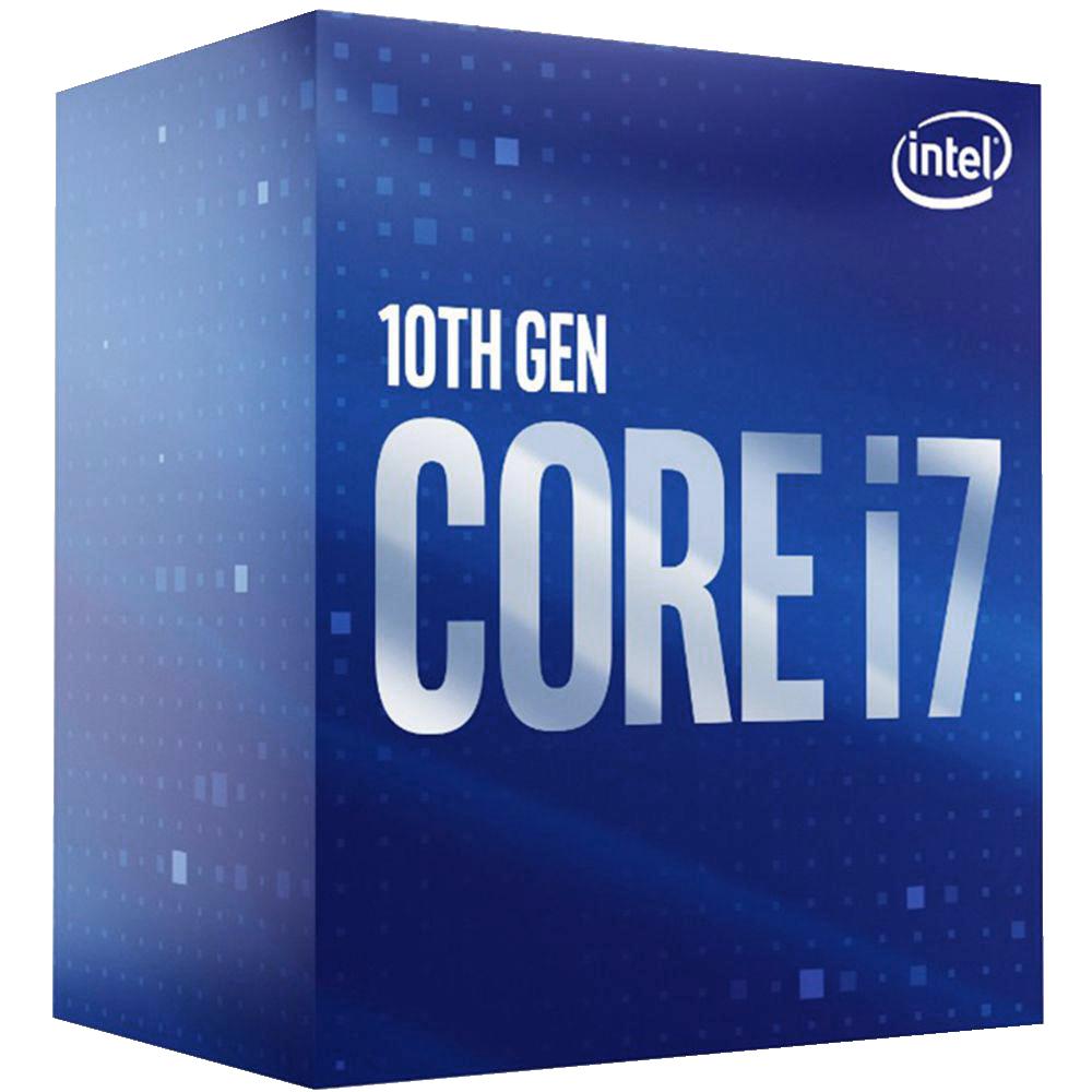 Процессор Intel Core i7-10700, 2.9ГГц, (Turbo 4.8ГГц), 8-ядерный, L3 16МБ, LGA1200, BOX процессор intel core i9 10900k 3 7ггц turbo 5 3ггц 10 ядерный l3 20мб lga1200 box