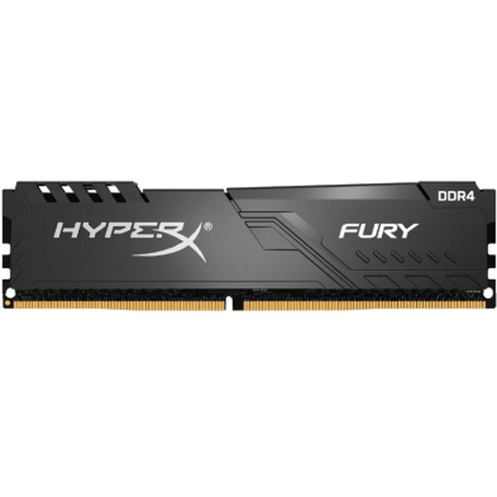 Модуль памяти DIMM 4Gb DDR4 PC19200 2400MHz Kingston HyperX Fury Black CL15 (HX424C15FB3/4) недорого