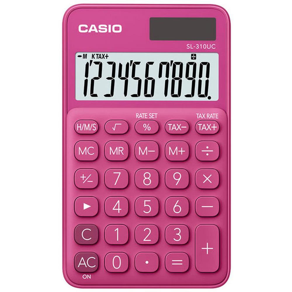 Калькулятор Casio SL-310UC-RD-S-EC красный 10-разр.