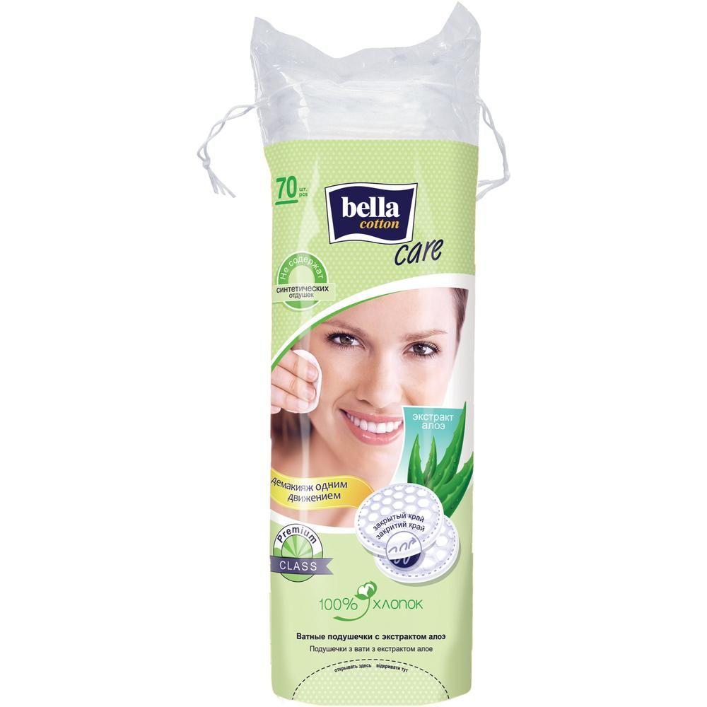 Ватные подушечки Bella Cotton Care с экстрактом алоэ, 70 шт/уп. диски ватные bella cotton care с экстрактом алоэ 100 шт