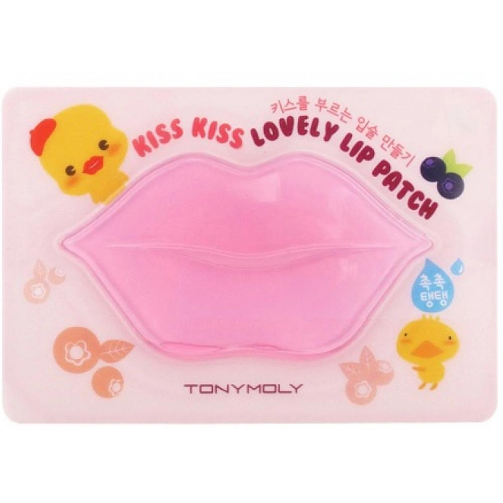 TONY MOLY Гидрогелевые патчи для губ KISS KISS LOVELY LIP PATCH, 9 г. tony moly бальзам для губ mini peach 7 г