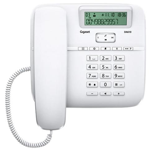 Телефон Gigaset DA610 белый телефон gigaset da610 черный