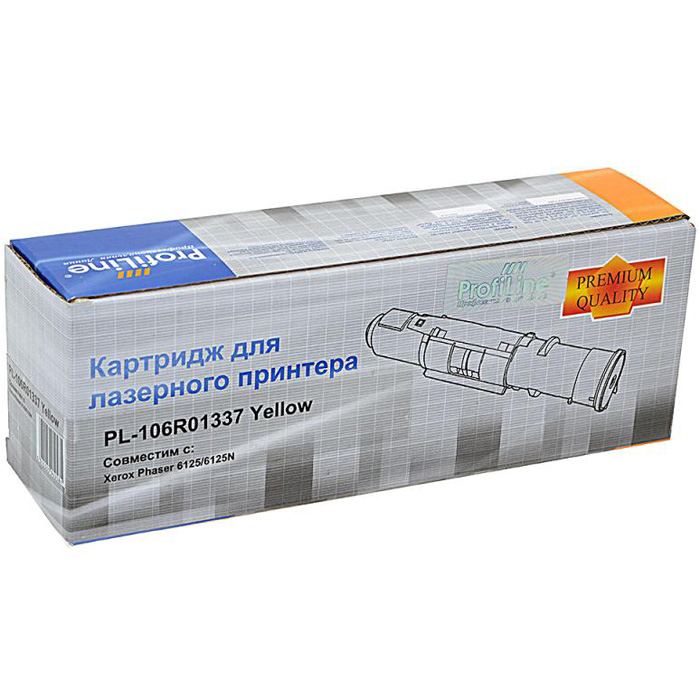 Фото - Картридж ProfiLine PL- 106R01337 Yellow для Xerox Phaser 6125/6125N (1000стр) картридж xerox 106r01075 yellow для phaser 6300 6350 4000стр