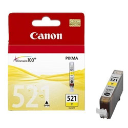 Фото - Картридж Canon CLI-521Y Yellow для Pixma iP3600/4600/MP540/620/630/980 картридж canon pgi 520bk 2932b012 x2 для canon pixma ip3600 4600 mp540 620 черный