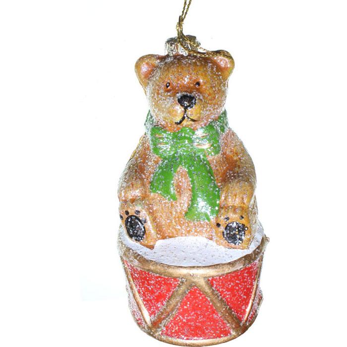 Фото - Ёлочное украшение Новогодняя сказка Мишка с барабаном 12,5 см (пластик) лиса с барабаном