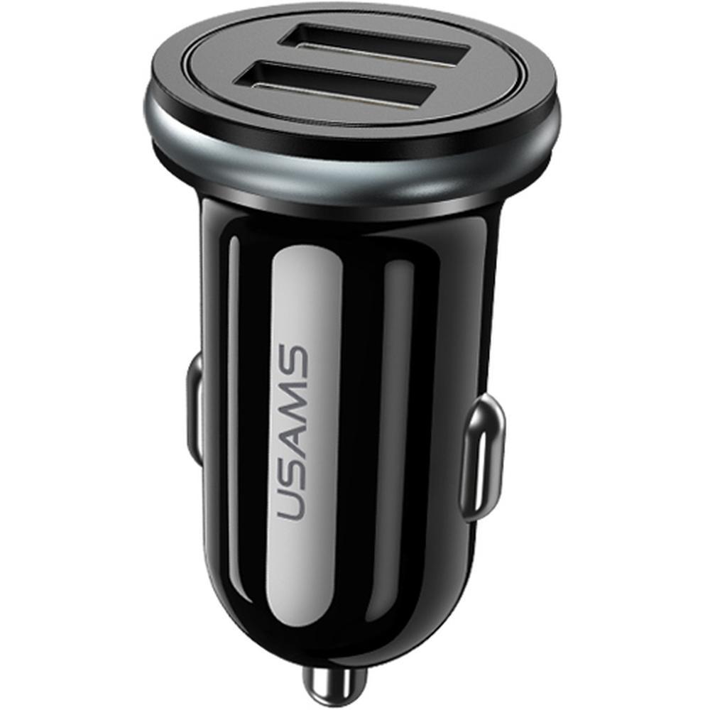 Фото - Автомобильное зарядное устройство Usams US-CC050 2xUSB внешний аккумулятор usams us cd123 5000mah черный