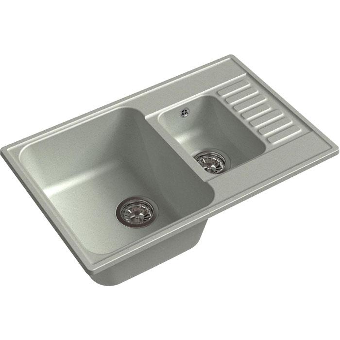 Кухонная мойка GranFest Quarz GF-Z21K 1,5 чаши с крылом 740*480мм серый кухонная мойка granfest quarz gf z58 чаша с крылом 620 480мм бежевый