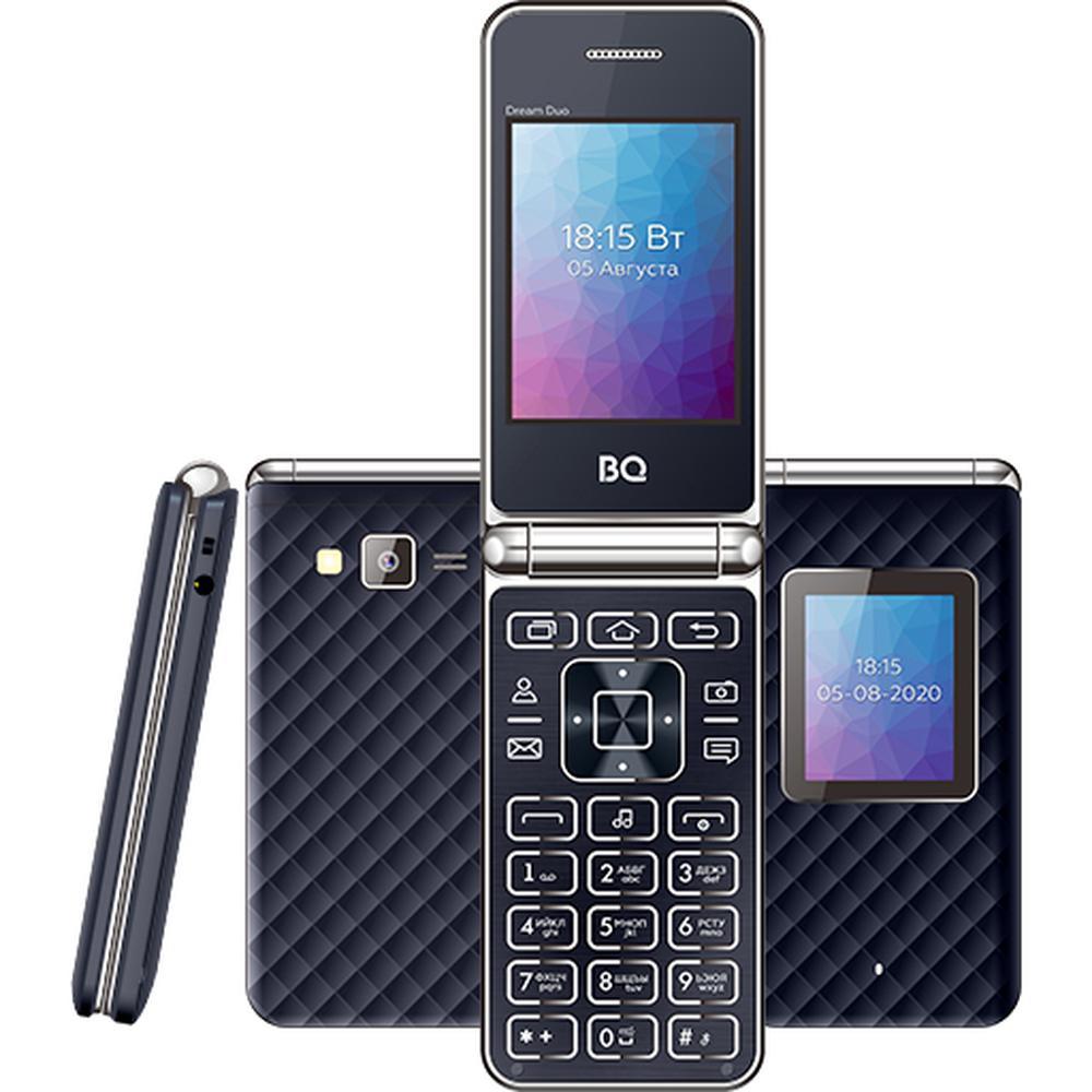 Мобильный телефон BQ Mobile BQ-2446 Dream Duo Dark Blue мобильный телефон bq 2814 shell duo gold