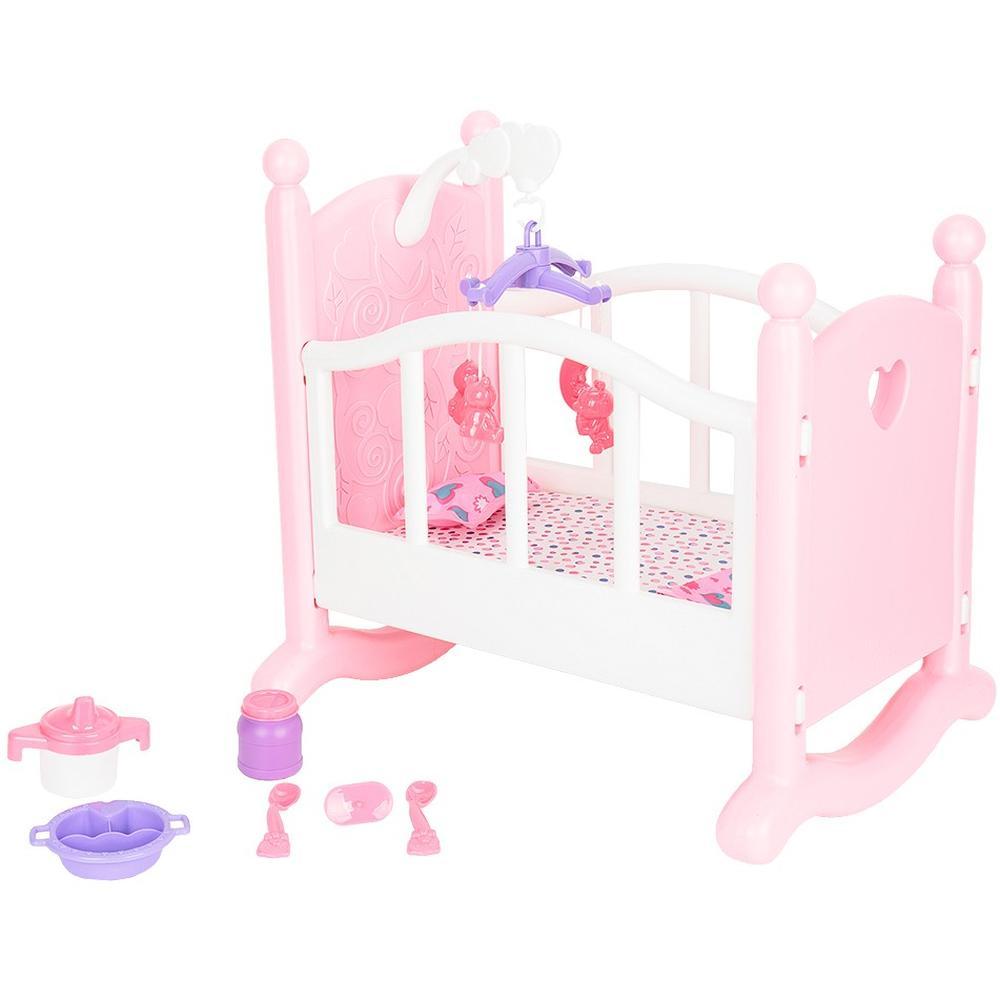 Кукольная кроватка Игруша с аксессуарами i-1603857 магнитный конструктор игруша magic magnetic i jh6883