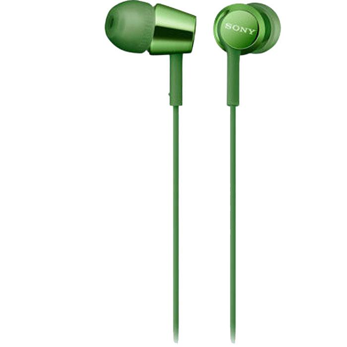 Гарнитура Sony MDR-EX155AP зеленая гарнитура sony mdr ex155ap синяя