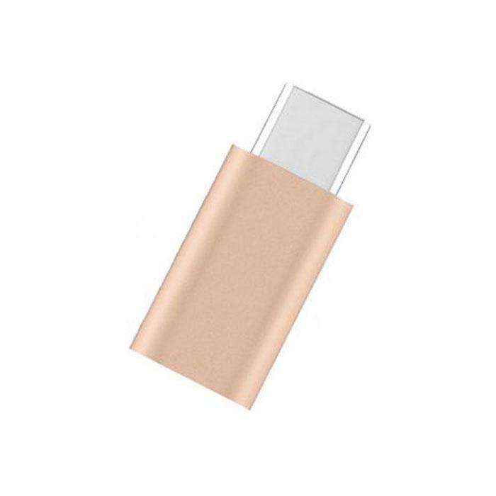 Фото - Переходник USB2.0 USB-C(m) - microB(5P) Vention (VAS-S10-G) Золотой кабель usb3 0 тип а m microb 5p 0 25м vention copbc