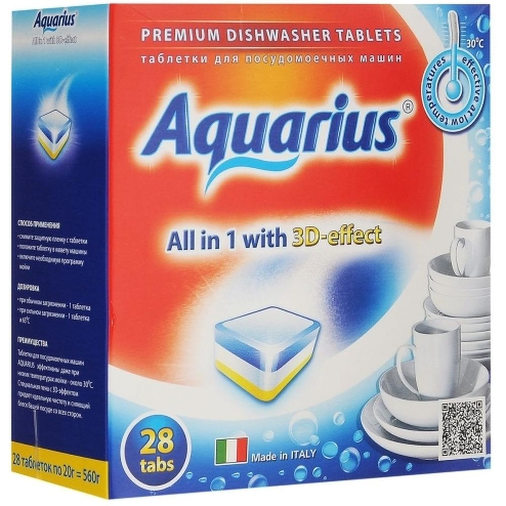 Фото - AQUARIUS All in 1 таблетки для посудомоечной машины, 28 шт. somat all in 1 таблетки лимон и лайм для посудомоечной машины 390 шт в6 уп
