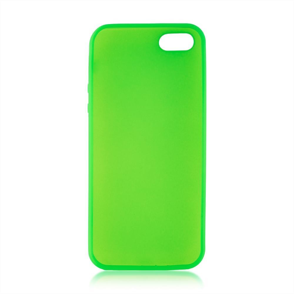 Чехол для Apple iPhone 5\5S\SE Brosco Colourful зеленый чехол для iphone 5 iphone 5s iphone se brosco soft rubber накладка черный