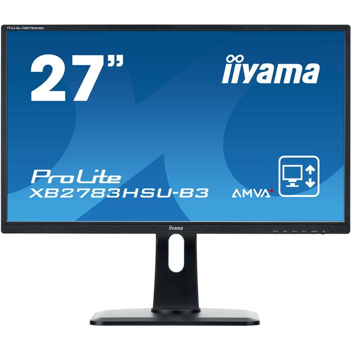 Монитор 27 Iiyama ProLite XB2783HSU-B3 A-MVA 1920x1080 4ms HDMI, DisplayPort, VGA монитор 32 aoc u3277fwq mva 3840x2160 4ms dvi d hdmi displayport vga