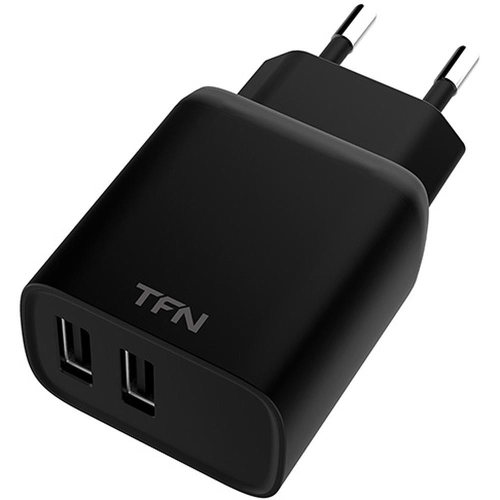 Фото - Сетевое зарядное устройство TFN 2.4A 12W 2xUSB черное (TFN-WCRPD12W2UBK) сетевое зарядное устройство aukey travel charger pa u32 12w 2xusb a черное