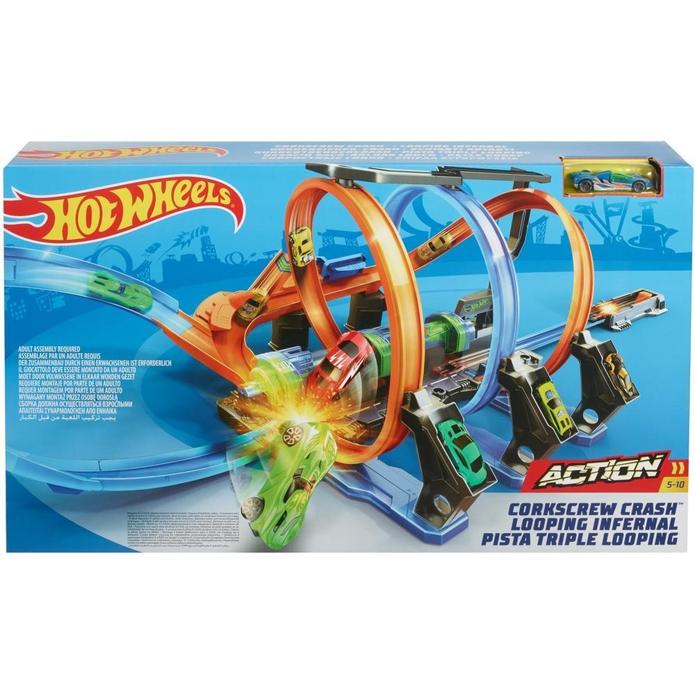 Mattel Hot Wheels FTB65 Игровой набор Скоростные гонки mattel автотрек hot wheels винтовое столкновение