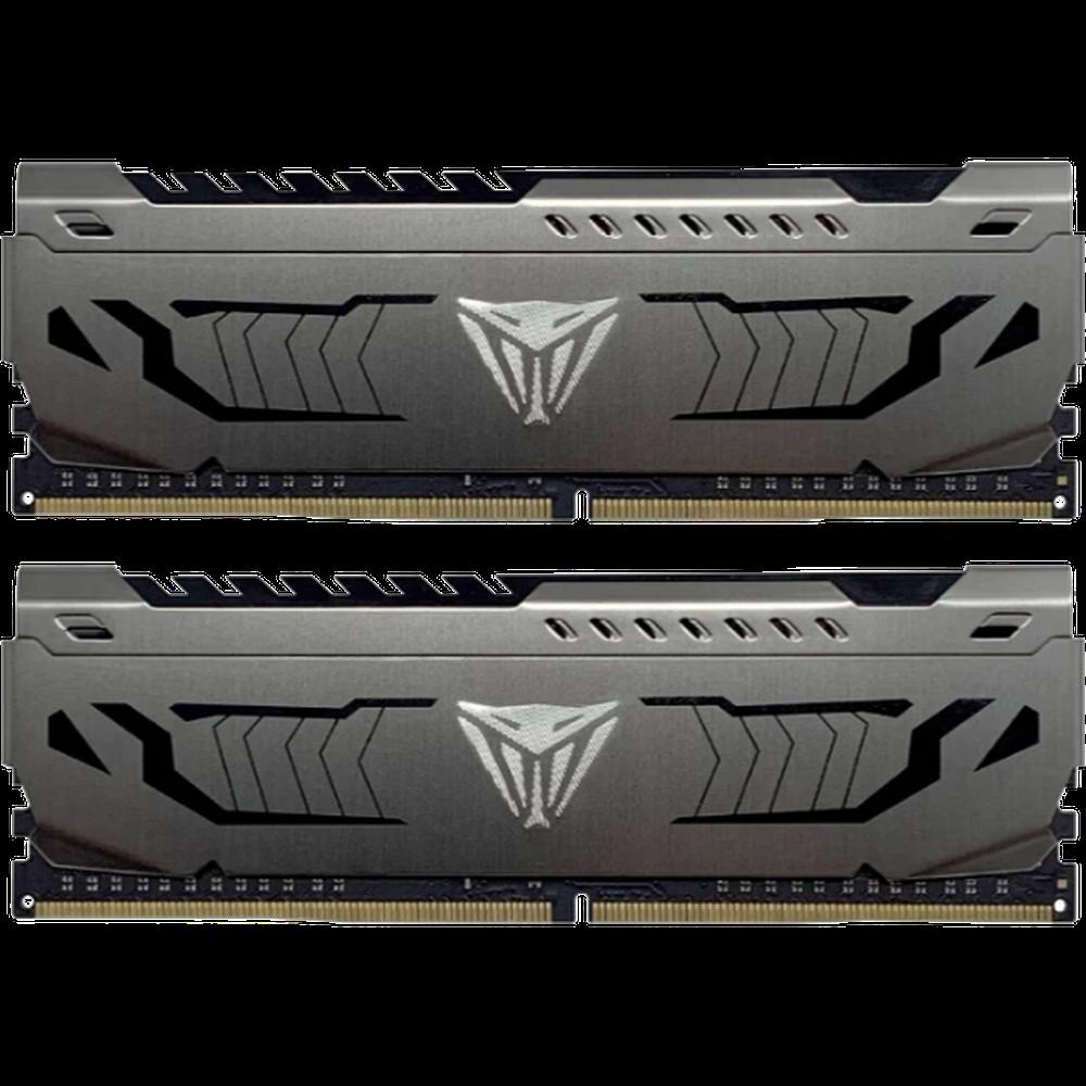 Фото - Модуль памяти DIMM 32Gb 2х16Gb DDR4 PC25600 3200MHz PATRIOT Viper Steel XMP 2.0 (PVS432G320C6K) модуль памяти dimm 32gb ddr4 pc25600 3200mhz kingston xmp hyperx predator series hx432c16pb3 32