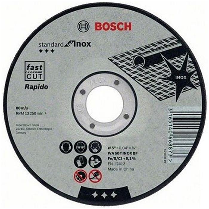Отрезной круг Bosch Standart for Inox 125х1мм 2608603171