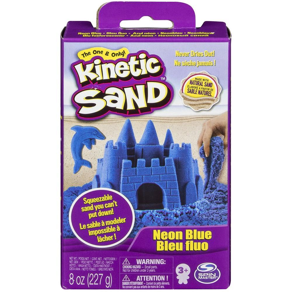 Kinetic Sand Кинетический песок набор для лепки 240 г (синий)