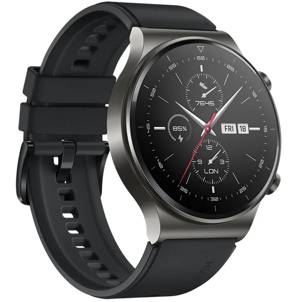 Умные часы Huawei Watch GT 2 Pro Vidar-B19S Black смарт часы huawei watch gt 2 pro vidar b19s 1 39 серебристый черный [55025736]