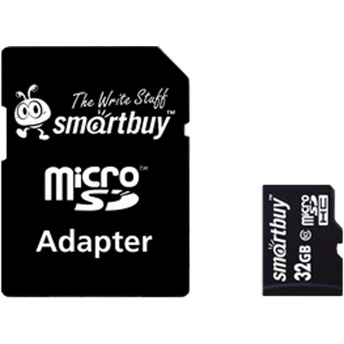 Фото - Карта памяти Micro SecureDigital 32Gb Smartbuy SDHC class 10 (SB32GBSDCL10-01) + SD адаптер карта памяти micro sdxc 64gb class 10 smartbuy sb64gbsdcl10 01 sd адаптер