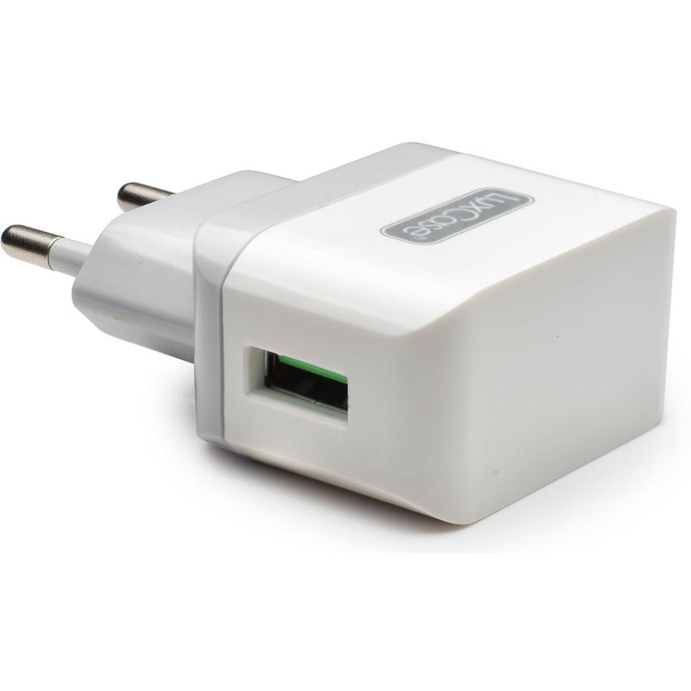 Фото - Сетевое зарядное устройство LuxCase QY-10G 1xUSB 1A серый аксессуар защитное стекло для meizu m5c luxcase 0 33mm 82256