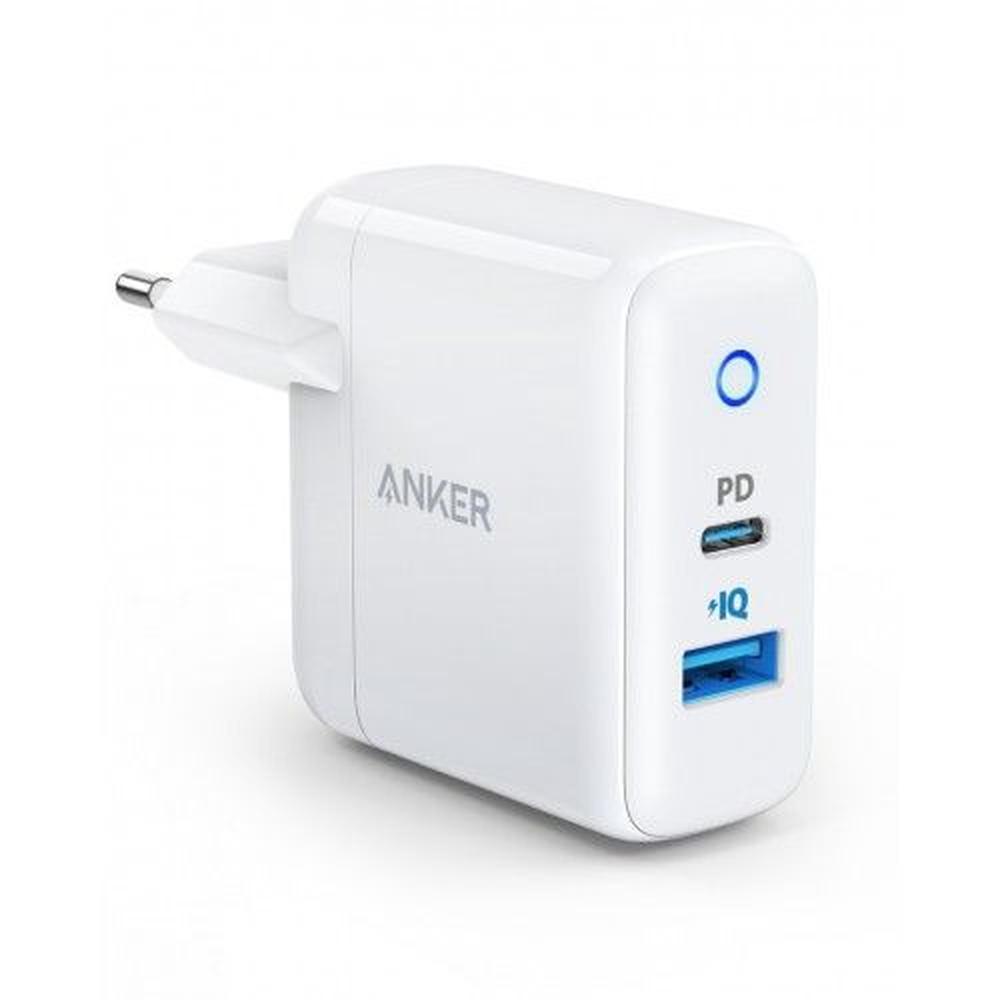 Фото - Сетевое зарядное устройство Anker PowerPort PD+ 2 USB + USB-C белое сетевое зарядное устройство anker powerport atom iii usb usb c белое