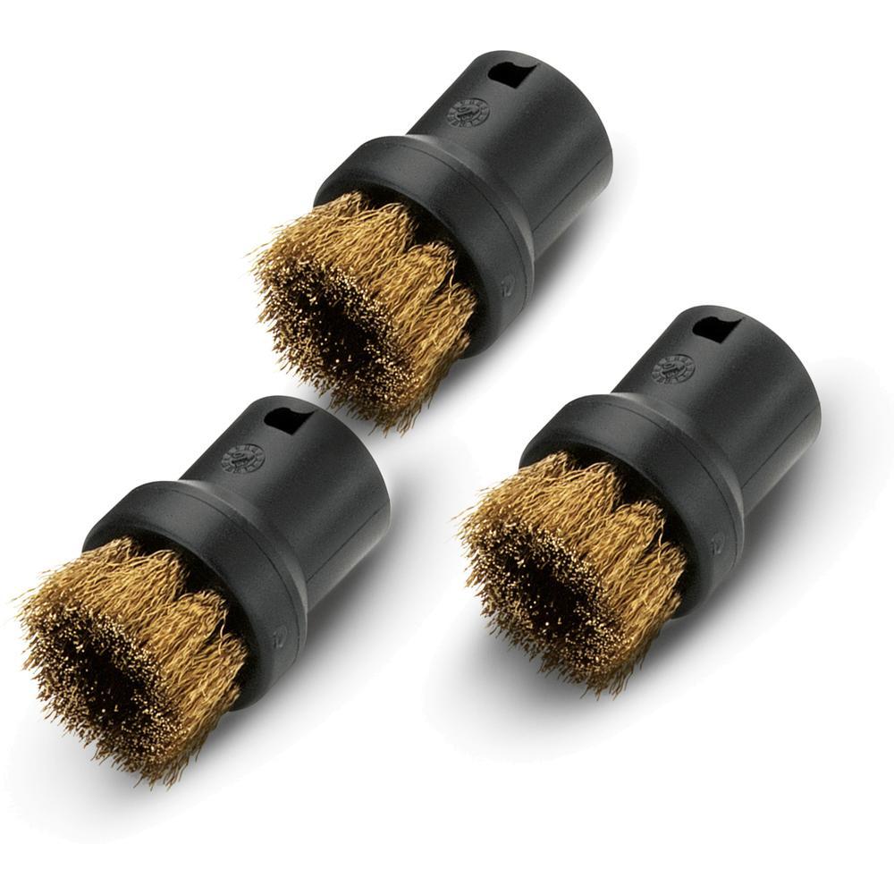Насадка для пылесоса Karcher Комплект круглых щеток с латунной щетиной 2.863-061.0