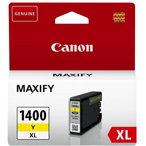 Фото - Картридж Canon PGI-1400XL Y для MAXIFY МВ2040 и МВ2340. Желтый. (900 стр) комплект картриджей canon pgi 1400xl мультипак 9185b004