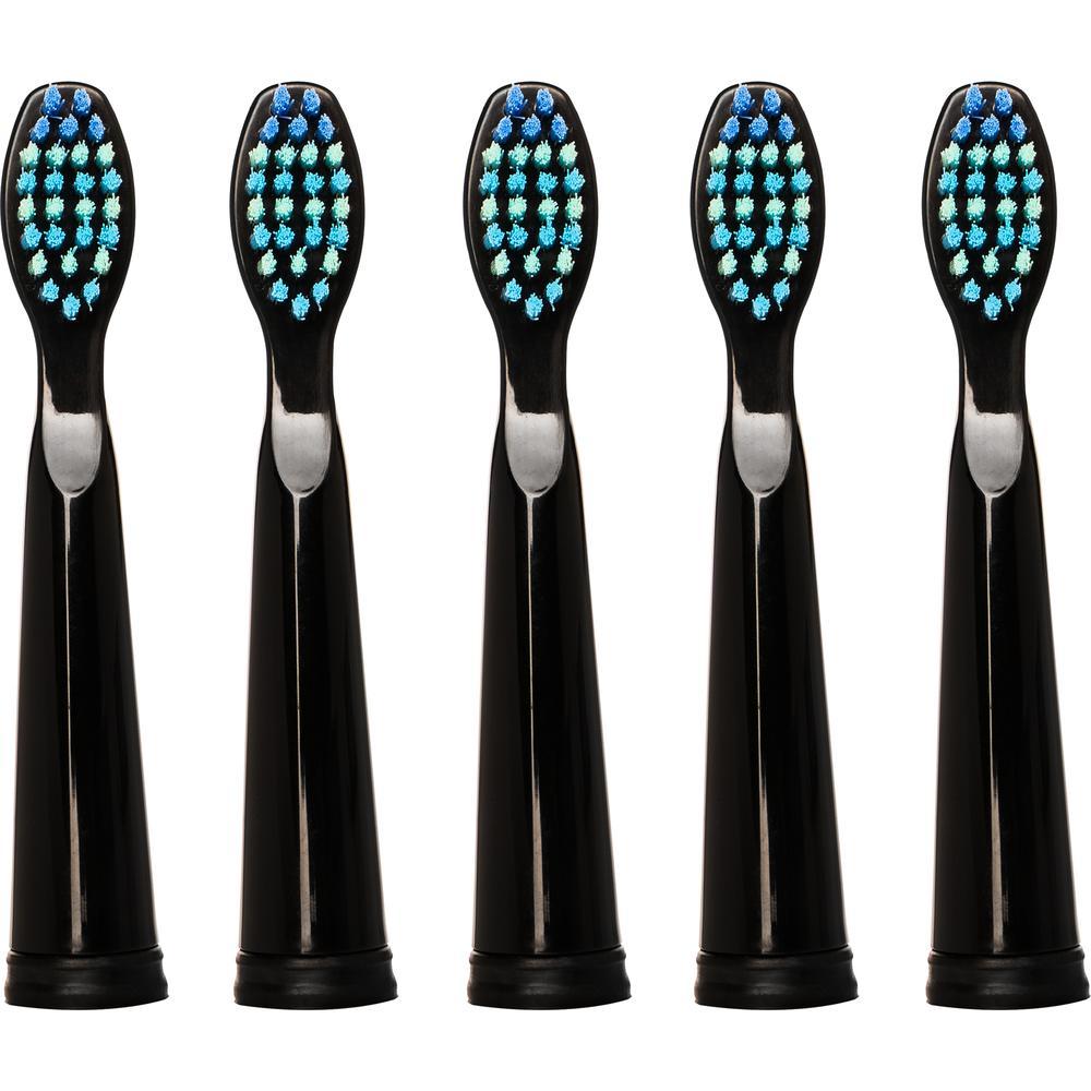 Насадка для зубных щеток Seago SG-010, черные (5 шт.) насадка для зубных щеток seago sg 002 2 шт [sg 002 white]