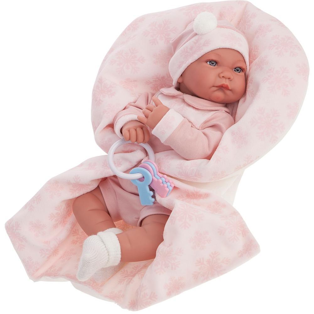 Кукла Munecas Antonio Juan Антония в розовом, 40 см 3376P