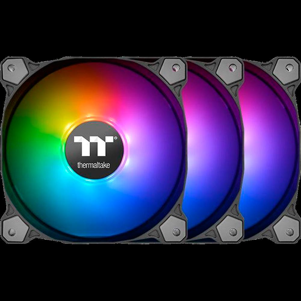 Вентилятор 140x140 Thermaltake Pure 14 ARGB Sync Radiator Fan TT Premium Edition (3-Fan Pack) (CL-F080-PL14SW-A) PWM + RGB LED Controller вентилятор enermax ucsqargb12p bp3 squa 120mm pwm rgb 3 pack