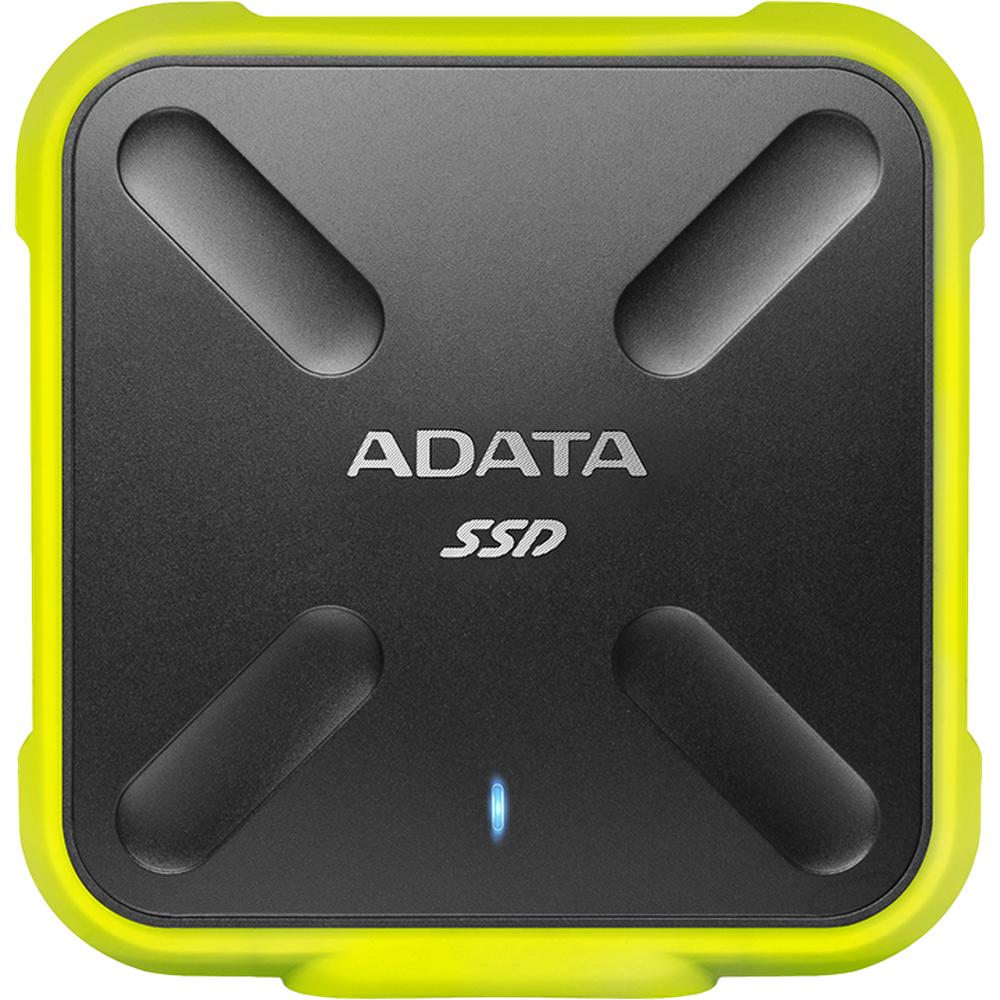 Внешний SSD-накопитель 1.8 1000Gb A-DATA SD700 ASD700-1TU31-CYL (SSD) USB 3.1 желтый adata sd700 series 256gb asd700 256gu31 cbk черный
