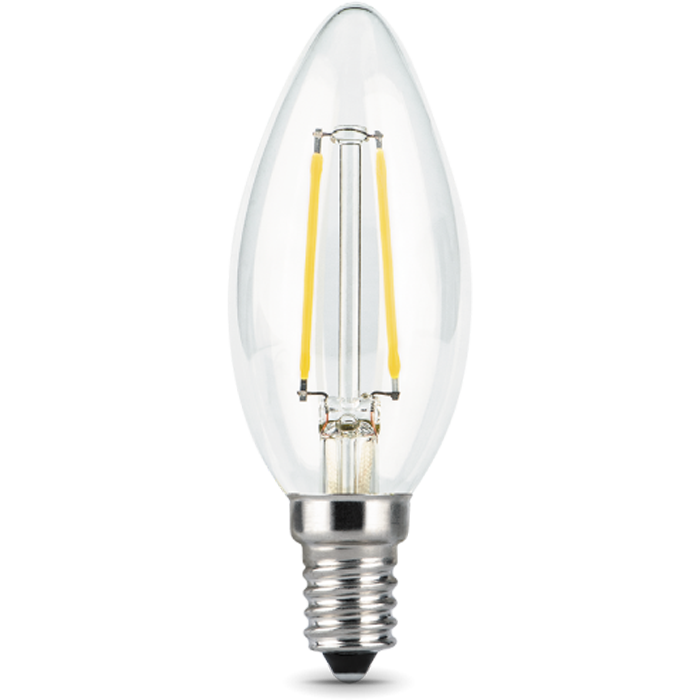 Светодиодная лампа Gauss Black Filament LED Candle E14 11W 2700K 103801111 светодиодная лампа gauss black filament led candle tailed e14 11w 2700k 104801111