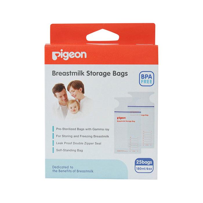 Пакеты для грудного молока Pigeon для заморозки и хранения 180 мл одноразов.применения 25 шт. недорого