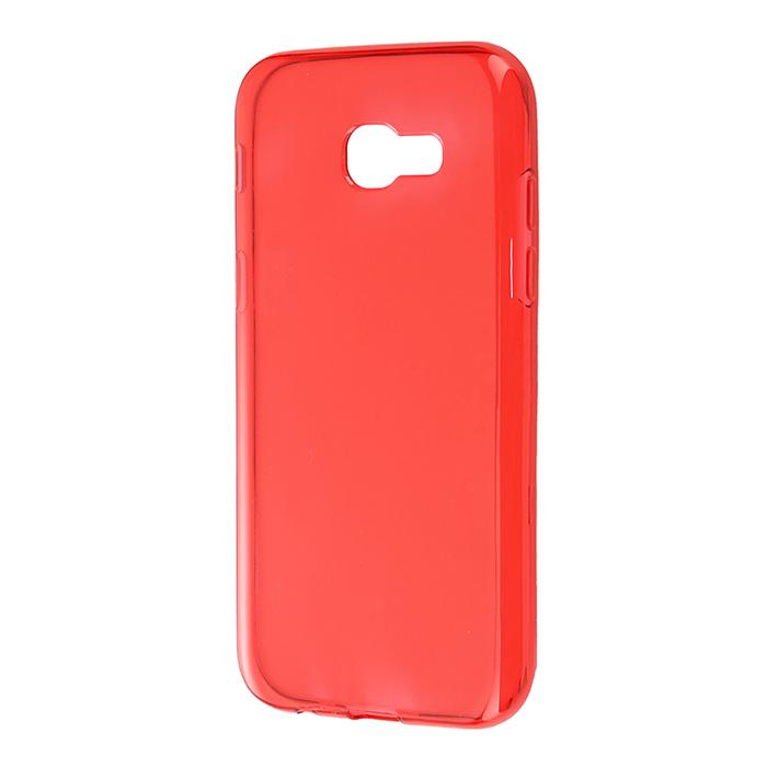 Чехол для Samsung Galaxy A3 (2017) SM-A320F Gecko, Силиконовая накладка, прозрачно-глянцевая, красная чехол для samsung galaxy j5 prime sm g570f ds gecko flip case серебристый