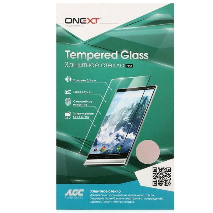 Защитное стекло для Sony G3112 Xperia XA1 Onext, 3D, на весь экран, с белой рамкой защитное стекло onext для sony xperia e4g 40941