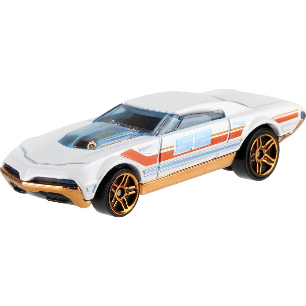 Mattel Hot Wheels премиальная машинка из серии Перламутр и хром GJW48 Muscle Speeder mattel базовая машинка hot wheels 91 gmc syclone
