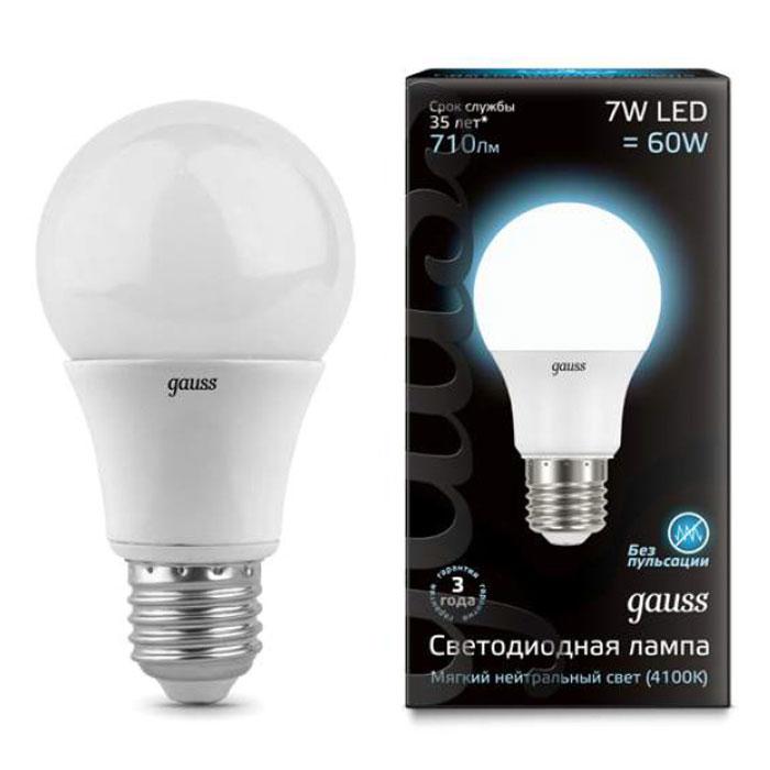 Gauss Black LED A60 E27 7W 4100K 102502207 gauss led a60 e27 7w 4100k 1 10 40