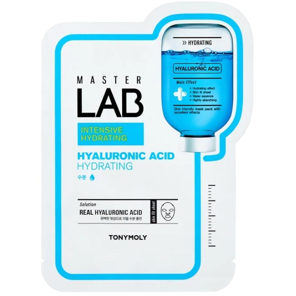 TONY MOLY тканевая маска Master Lab Hyaluronic Acid глубокое увлажнение, 19 г. tony moly tony lab