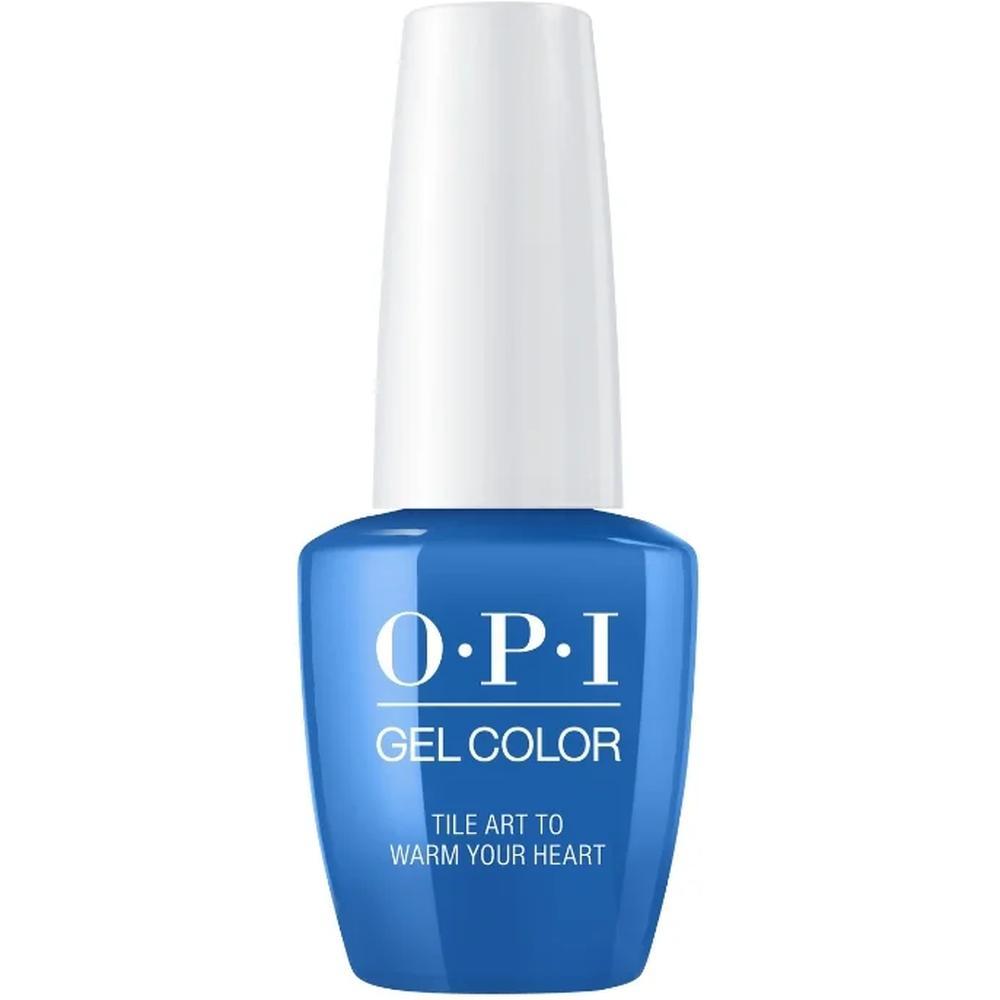 OPI Гель-лак для ногтей GelColor Lisbon Tile Art to Warm Your Heart, 15 мл. гель лак для ногтей opi gelcolor lisbon 15 мл tagus in that selfie