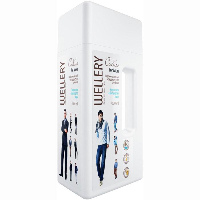 Фото - Wellery Кондиционер для белья Couture for Men Энергия моря и благородство кедра, 1 л. wellery кондиционер для белья wellery парфюмированный collection blue 900 мл