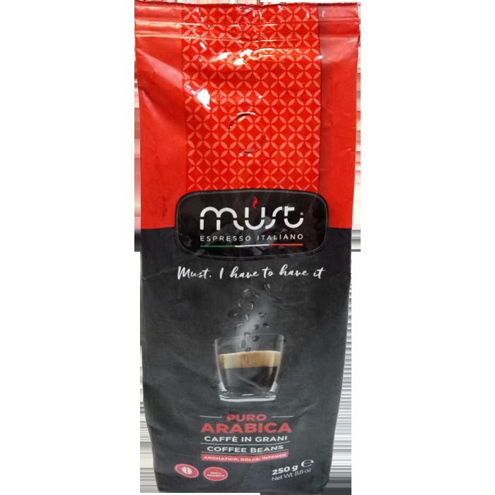 Кофе в зернах Must PURE ARABICA 0.25 кг