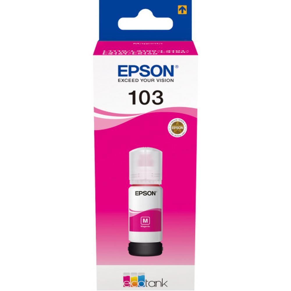 Чернила EPSON 103M Magenta для L3100/L3110/L3150 65мл C13T00S34A