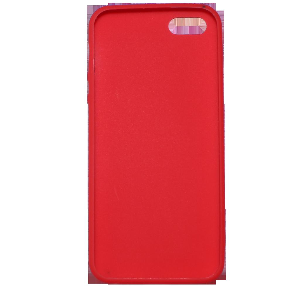 Чехол для Apple iPhone 5\5S\SE Brosco Colourful красный чехол для iphone 5 iphone 5s iphone se brosco soft rubber накладка черный