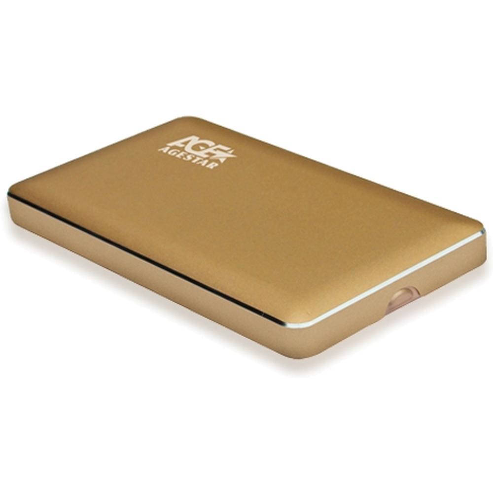 Фото - Корпус 2.5 AgeStar 3UB2A16 SATA, USB3.0 Золотой корпус 2 5 agestar 3ub2a8 6g sata usb3 0 silver