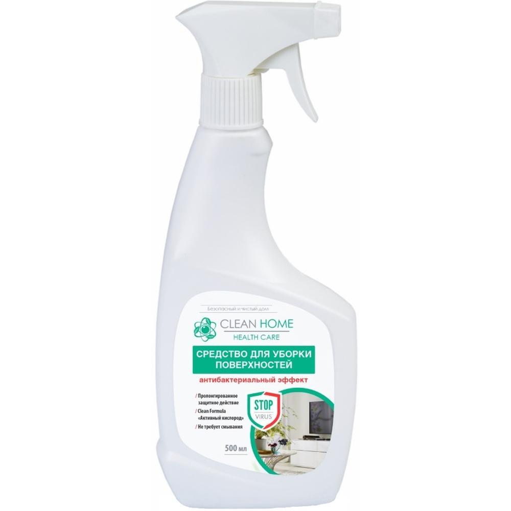 Clean Home Средство для уборки поверхностей Антибактериальный эффект, 500 мл.