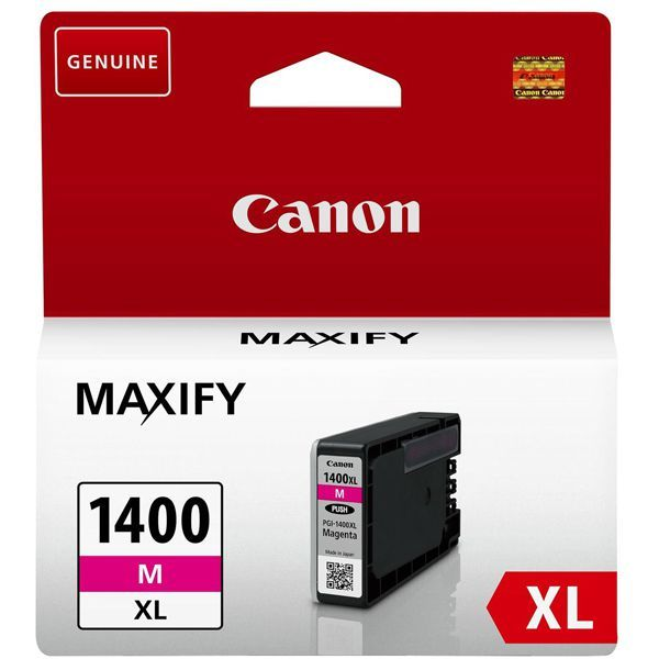 Фото - Картридж Canon PGI-1400XL M для MAXIFY МВ2040 и МВ2340. Пурпурный. (900 стр) комплект картриджей canon pgi 1400xl мультипак 9185b004